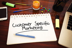 Customer Specific Marketing Stock Image