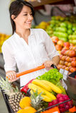 Customer at the supermarket Royalty Free Stock Images