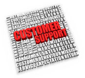 Customer Support. And related words on white background stock illustration