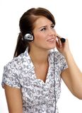 Customer support agent stock photography