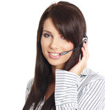 Customer support agent Stock Image