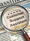 Customer Support Assistant Job Vacancy. 3D. Royalty Free Stock Photo