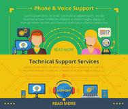 Customer support banner Stock Images