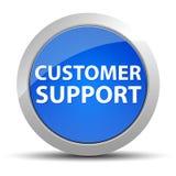 Customer Support blue round button stock illustration