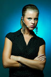 Customer support businesswoman Royalty Free Stock Photos