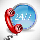 Customer support call center icon. All day customer support call center icon Royalty Free Stock Images