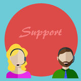 The customer support center Royalty Free Stock Images