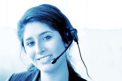Customer support center woman Royalty Free Stock Photography