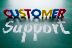 Customer support, colorful words Royalty Free Stock Image