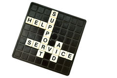 Customer support crossword Stock Photography