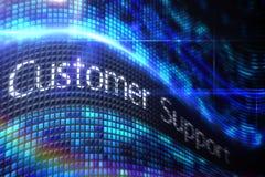 Customer support on digital screen Stock Photo