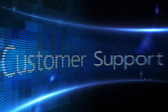 Customer support on digital screen Royalty Free Stock Photography