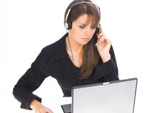 Customer Support Girl Royalty Free Stock Image