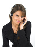 Customer support girl Stock Photos