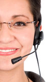 Customer support girl Stock Images