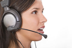 Customer support girl royalty free stock images