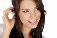 Customer support girl Stock Image