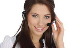 Customer support girl Stock Image