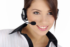 Customer support girl Stock Photo