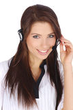 Customer support girl Stock Photo