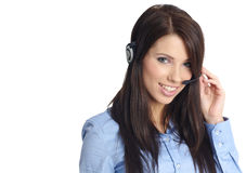 Customer support girl Royalty Free Stock Photography