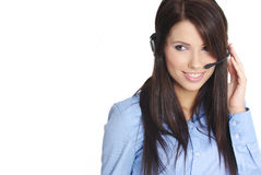 Customer support girl Stock Photography