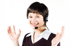 Customer support girl in call center Royalty Free Stock Photo