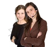 Customer Support Girls Royalty Free Stock Image