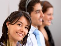 Customer support group Stock Photography