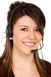 Customer support - headset Stock Photos