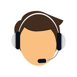 customer support Icon image Royalty Free Stock Photography