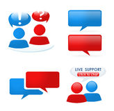 Customer support icon set. A variety of shiny icons for customer support against white background Royalty Free Stock Images
