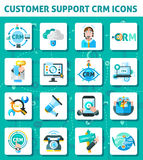 Customer Support Icons Set Stock Photo