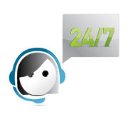 24 7 customer support illustration design. Over a white background Royalty Free Stock Photography