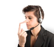 Customer Support liar Royalty Free Stock Photo