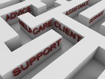 Customer support - maze Stock Photography