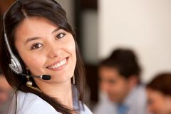 Customer support operator Royalty Free Stock Photo