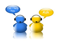 Customer support operator Royalty Free Stock Images