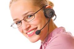 Customer support operator Stock Image