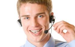 Customer support operator stock photography