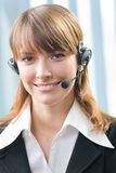 Customer support operator Stock Photos