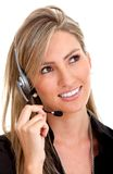 Customer support operator Stock Image