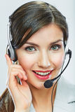 Customer support operator close up portrait.  call center smili Royalty Free Stock Images