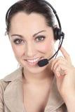 Customer support operator close up portrait Stock Image