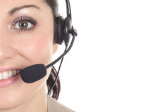 Customer support operator close up portrait Royalty Free Stock Photos
