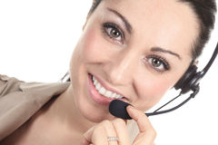 Customer support operator close up portrait Royalty Free Stock Photography