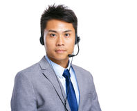 Customer support operator man Royalty Free Stock Photos