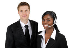 Customer support operator team Stock Image