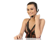 Customer support operator woman Royalty Free Stock Photos
