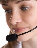 Customer support operator woman Royalty Free Stock Photography
